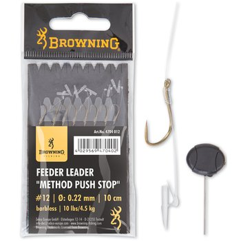 Carlige Legate Browning No.18 10cm 0.22mm Feeder Leader Method Push Stop