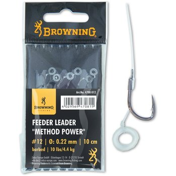 Carlige Legate Browning No.16 10cm 0.20mm Feeder Leader Method Power