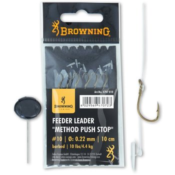 Carlige Legate Browning No.18 10cm 0.16mm Feeder Leader Method Push Stop