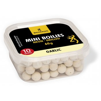 Mini Boilies Browning Neon Pre-drilled White Garlic 10mm