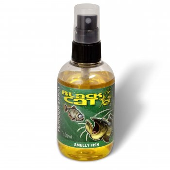 Spray Atractant Black Cat Flavour Yellow Smelly Fish 100ml